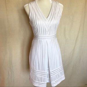 H&M White Eyelet Shift Dress